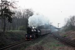 PKP Ol49-81 leaving Wolsztyn 21-3-1990