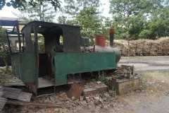 The remainsm of a steam locomotive - PG Gondang Baru