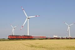 Near Klanxbüll 2  DBS-218 type Locs pulling a Sylt Shuttle to Niebull on 19 July 2014