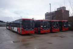 New 13 meter Volvo Arriva-Volans buses at the new depot in Uden Thursday 11 Dec 2014, great buses to drive