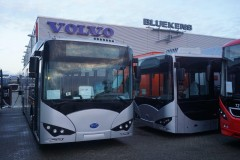 New Chinese build BYD electrobus at Volvo Oosterhout 11 Dec 2014