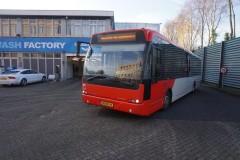 The last Veolia bus leaves Roosendaal garega Sunday 14 Dec 2014 me driving: photo by Rudi Boere