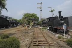 Tracks are being relaid 15-10-2014 Ambarawa