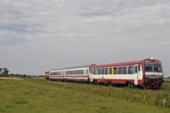 Coming From Dagebüll Mole NEG-T4 just before reaching Maasbüll with IC Kurswagen on 27 July 2014