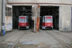 Tblisi tram depot and workshop 26 Dec 2006