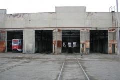 Tblisi tram depot after closure here seen at 26 Dec 2006
