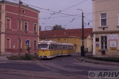 aphv-1381-030929-miskolc-100-museum-car-leaving-the-depot-connection-towards-the-rly-station-29-9-2003