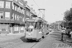aphv-1534-14861-ret-130-en-1029-lijn-6-op-28-5-1982-hillegonda-straat-inrukkend-naar-remise-hillegersberg---laatste-allan-rit-rechter-maasoever--